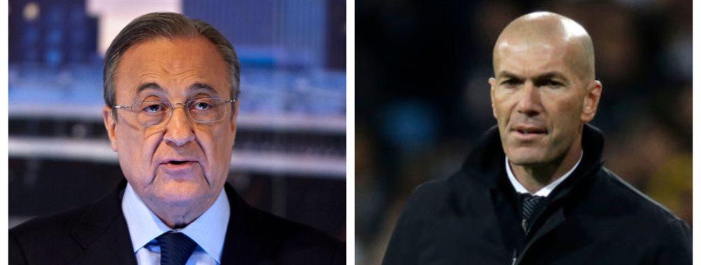 Florentino Pérez lleva mucho tiempo intentando torpedear las operaciones de Zinedine Zidane