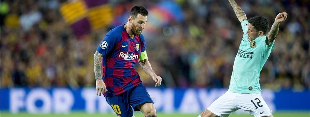 Leo Messi sabe que Junior Firpo se borró para el partido contra el Inter de Milán a última hora