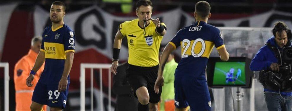 La Conmebol hizo públicos los audios de las comunicaciones entre el VAR y el árbitro Raphael Claus en el penal a favor de River y la roja a Capaldo.