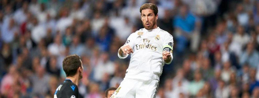 Sergio Ramos tuvo que parar a Álvaro Odriozola, que estaba muy enfadado con Zinedine Zidane