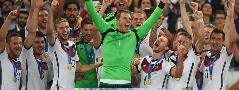 La selección de Alemania sólo repite a Manuel Neuer de la lista de convocados del Mundial de Brasil 2014.