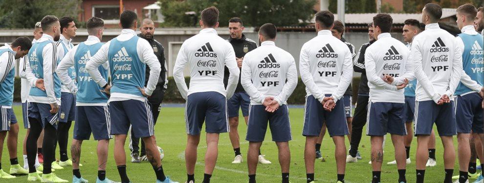 Lionel Scaloni ensayó con una posible alineación de la Selección Argentina para visitar a Alemania.