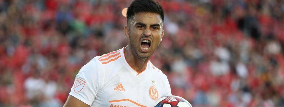 Luego de un año en el Atlanta United de la MLS, Gonzalo Martínez podría regresar a Sudamérica.