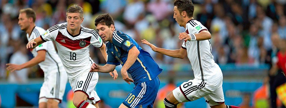 La Selección Argentina se enfrenta con Alemania en un amistoso en el Signal Iduna Park de Dortmund.