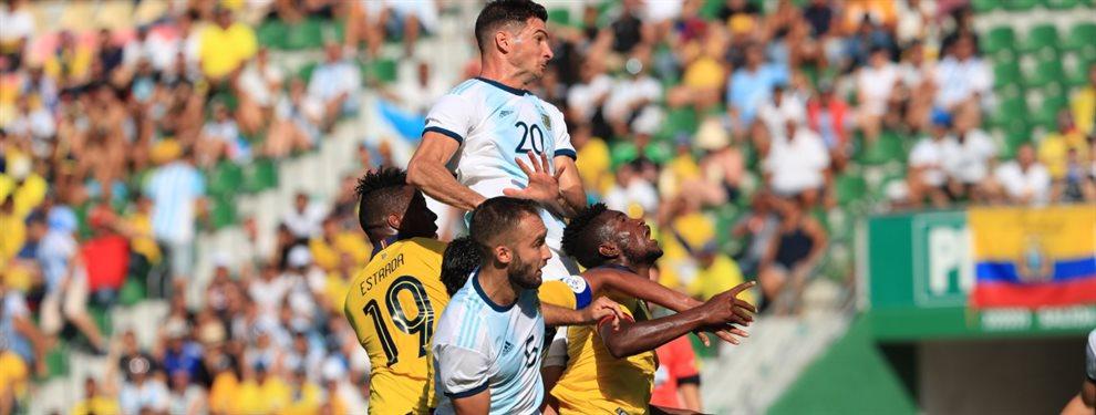 La Selección Argentina se enfrenta ante su par de Ecuardo en el estadio Manuel Martínez Valero de Elche.