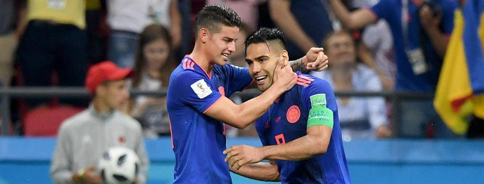 Radamel Falcao y James Rodríguez compartirán equipo a partir del próximo verano