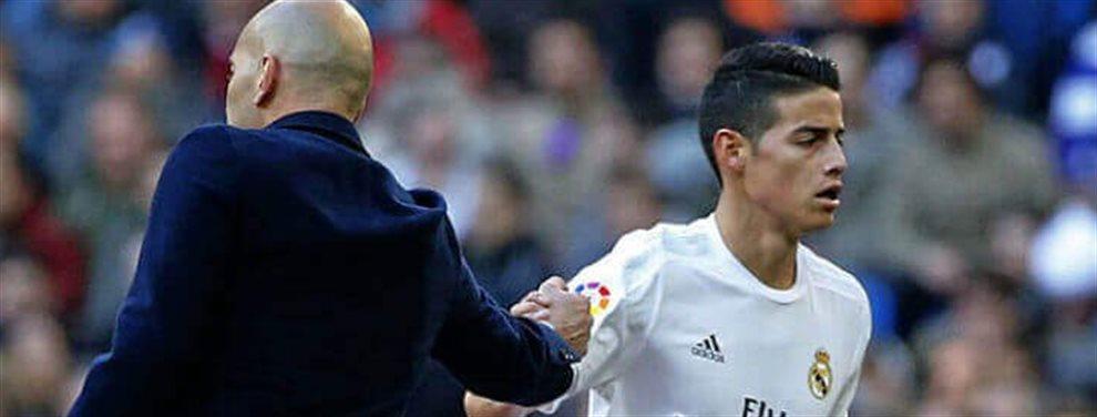 James Rodríguez no puede creer que el Real Madrid se la vaya a jugar de nuevo. Quiere explicaciones y necesita que alguien le diga si todo es verdad o no