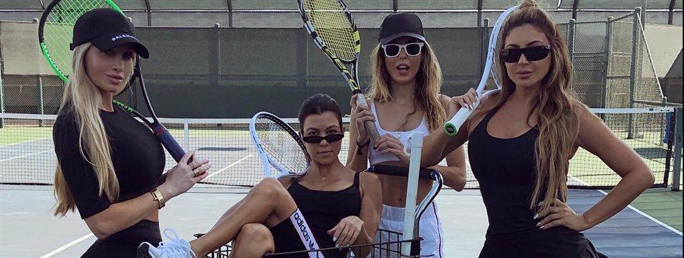 Ya hay nueva reina del fitness, Kourtney Kardashian lo sabe y lo es por esta locura de foto: Amanda Elise Lee se sienta encima y nos las enseña ¡sin pudor!