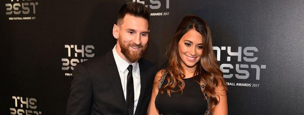 Antonella Roccuzzo fue muy halagada por Leo Messi después de que levantara su sexta Bota de Oro