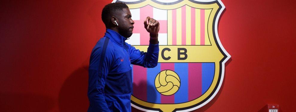 Samuel Umtiti está sentenciado en el Barça, que se habría fijado en Dayot Upamecano para ser su relevo