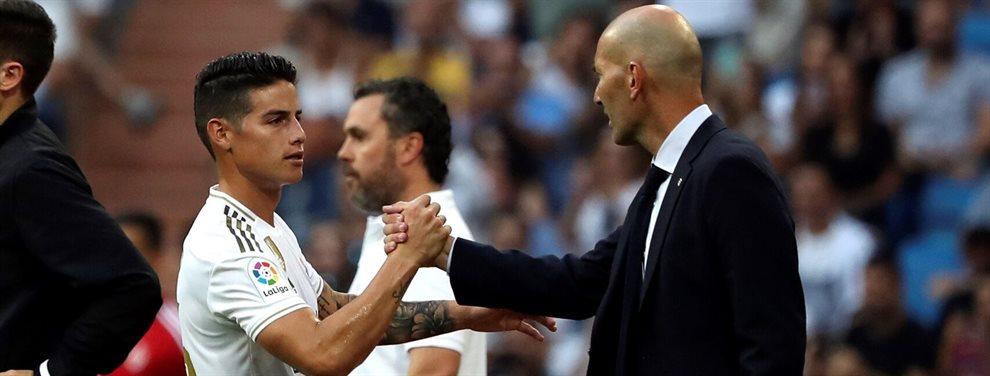 James Rodríguez ha criticado abiertamente a Zinedine Zidane por su manera de gestionar la plantilla
