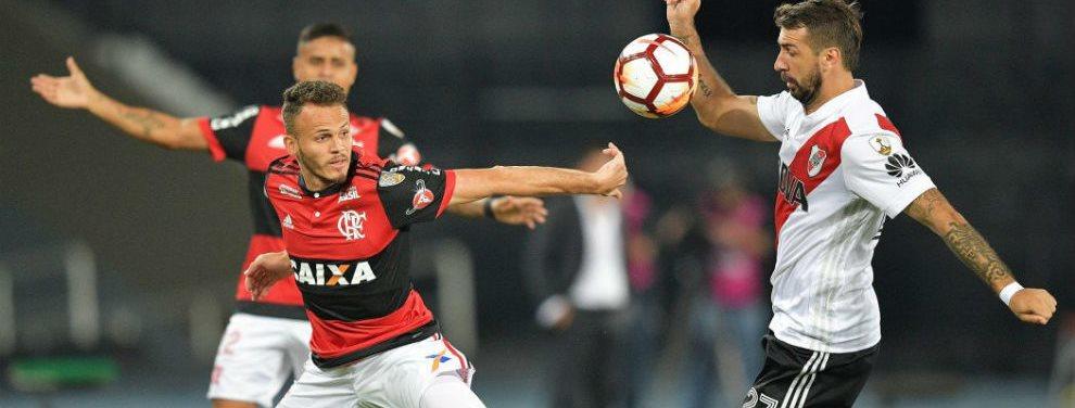 El River de Marcelo Gallardo se enfrentó en dos oportunidades con el Flamengo y por la Copa Libertadores.