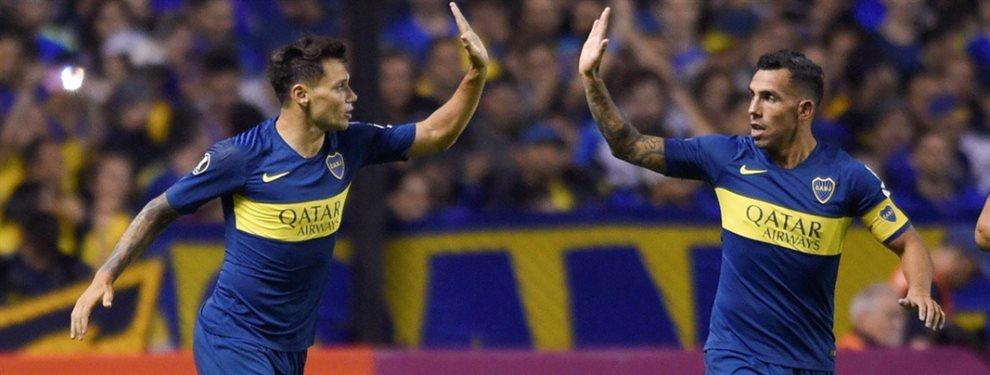 Los dos equipos con los que ensayó Gustavo Alfaro durante el entrenamiento de Boca.