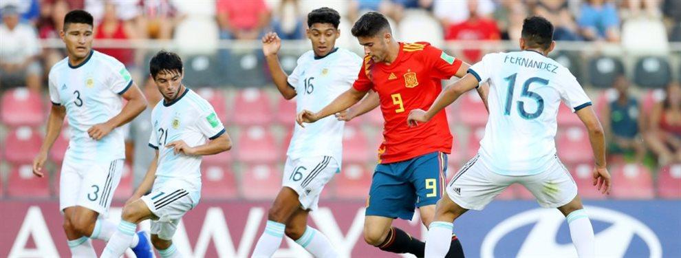 Argentina y España se enfrentaron en el comienzo del Grupo E del Mundial Sub 17.