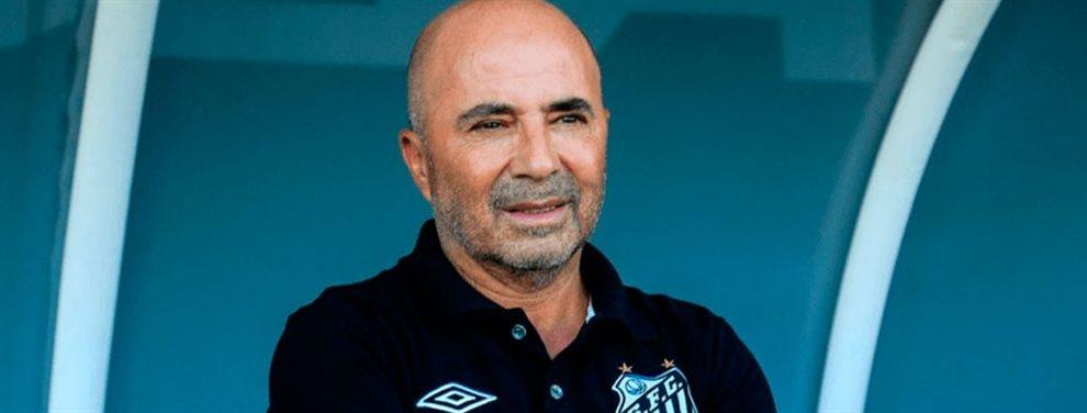 Jorge Sampaoli, actual entrenador del Santos de Brasil, podría regresar al fútbol español.