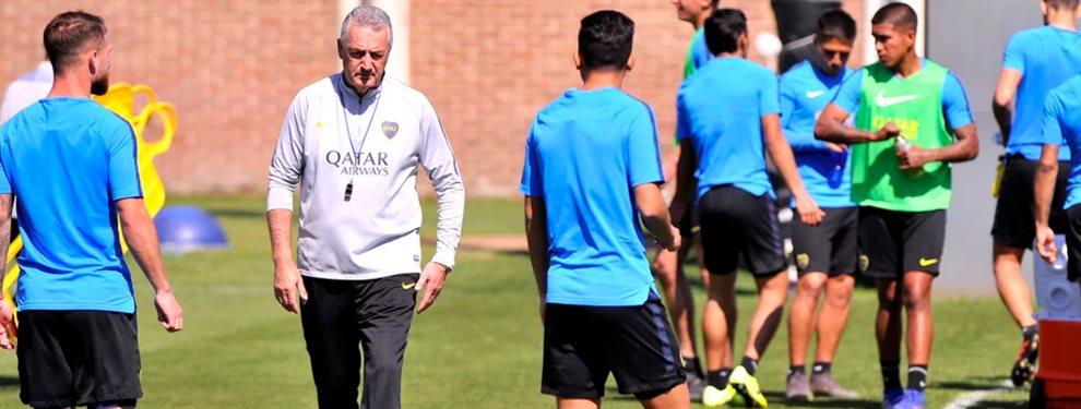 En el último entrenamiento, Gustavo Alfaro confirmó el equipo de Boca para visitar a Lanús.