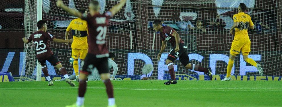 En La Fortaleza, Boca perdió 2-1 frente a Lanús y no pudo continuar como líder del certamen.
