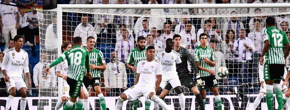 El Real Madrid se dejó dos puntos y el liderato que podían conseguir tras el pinchazo del Barça. Los hombres de Zinedine Zidane no pudieron con el Betis.