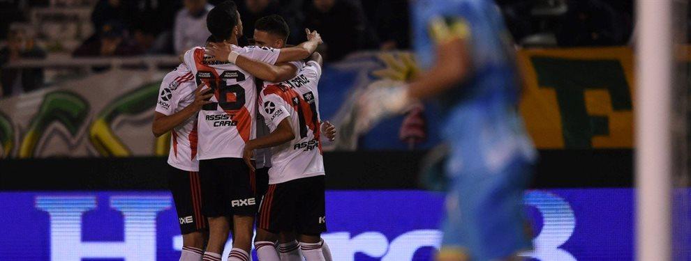 River derrotó 2-1 a Aldosivi en Mar del Plata y alcanzó a Argentinos Juniors en la cima de la Superliga.