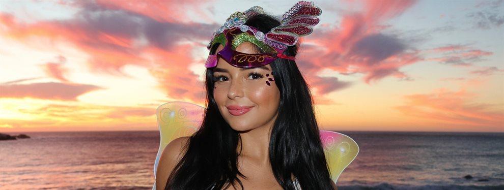La modelo curvy Demi Rose ha elegido un disfraz de diabla para lucirse en la fiesta de Halloween, y cuesta identificicarla con el maquillaje y sin ropa