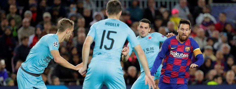 En condición de local, el Barcelona empató 0 a 0 con el Slavia Praga por la Champions League.