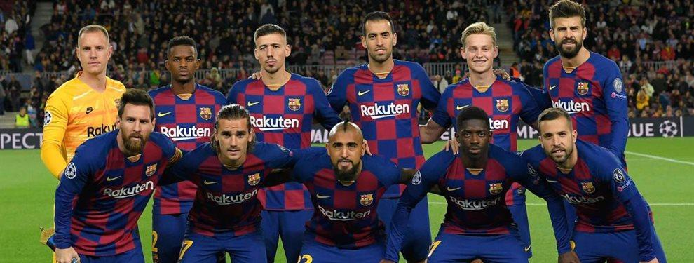 Leo Messi no se cortó y señaló a Ousmane Dembélé, Sergio Busquets, Antoine Griezmann y Sergi Roberto.