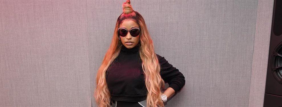 La rapera Nicki Minaj deja de estar soltera y para celebrarlo se pone unos leggins y en postura de cuclillas mientras nos tira un beso y nos enseña lo suyo