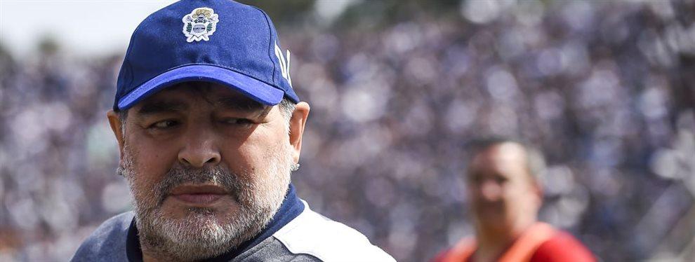 Diego Maradona se comunicó con un futbolista al que quiere para reforzar a Gimnasia en 2020.