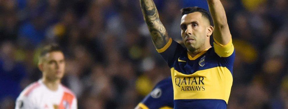 Carlos Tevez se desgarró y podría perderse los compromisos que le restan a Boca en 2019.
