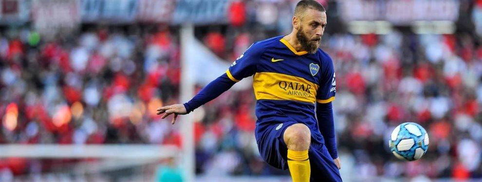 Gustavo Alfaro incluiría a Daniele De Rossi como titular para la visita de Boca a Vélez