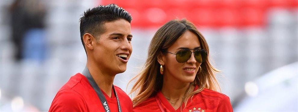 Shannon de Lima y James Rodríguez pueden abandonar Madrid en cuestión de muy poco tiempo