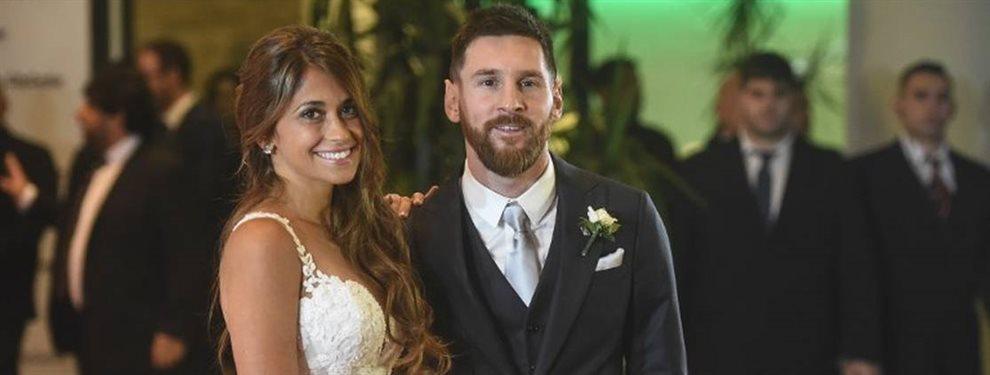 Antonella Roccuzzo aparecía en una foto junto a muchas más WAGS del Barça en el cumpleaños de Sofía Balbi