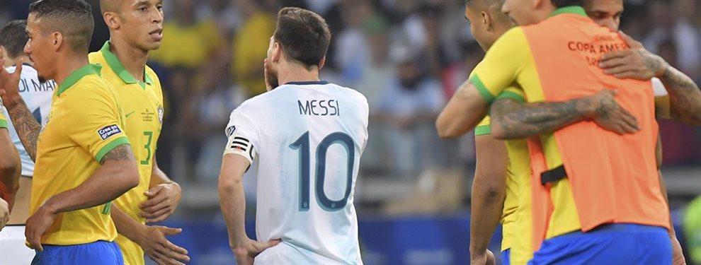El historial de Messi ante Brasil