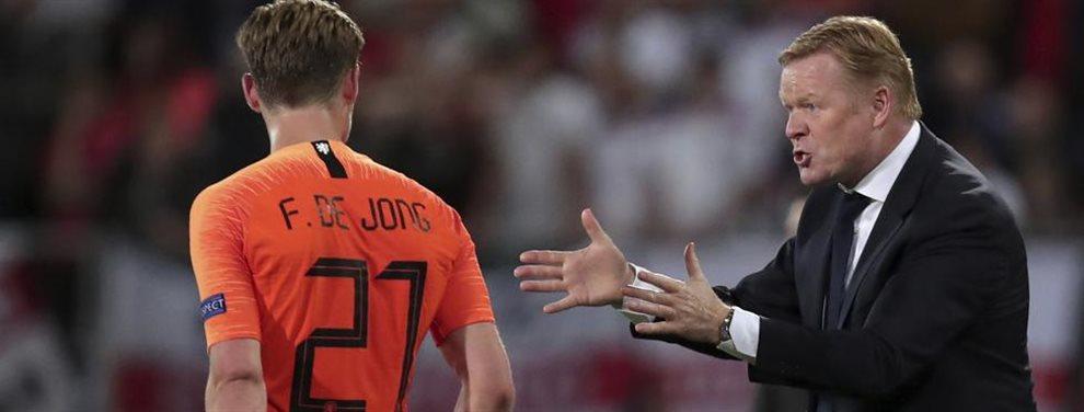 Ronald Koeman, leyenda del Barcelona y entrenador de Holanda, habló sobre la posibilidad de dirigir al Culé.