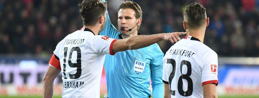 La Bundesliga sancionó con siete semanas de suspensión al argentino David Abraham.