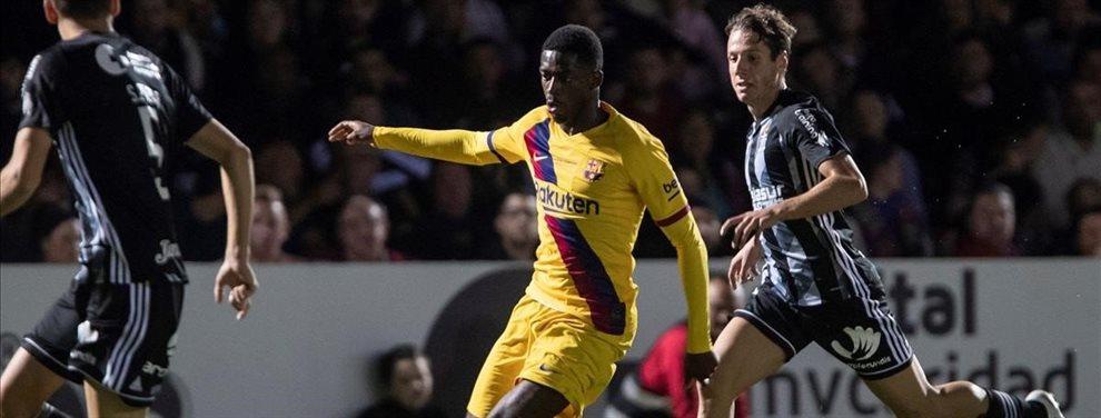 Samuel Umtiti está en la rampa de salida del Barça, después de conocerse que habló con el Real Madrid