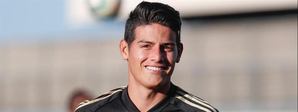 James Rodríguez ha recibido una oferta del Arsenal de Unai Emery para irse del Real Madrid