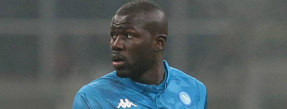 Koulibaly ha decidido a que equipo irá en Enero por 75 millones. Ha tenido que escoger entre Guardiola y Mourinho y su decisión final ha sido la de jugar..
