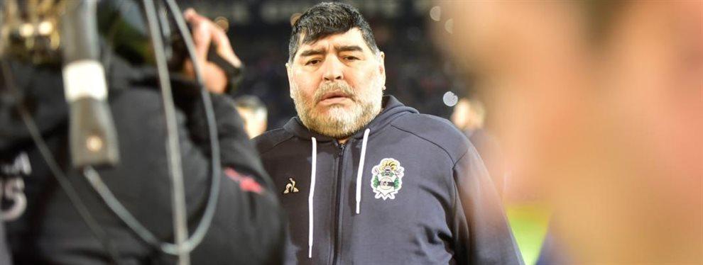 Diego Armando Maradona comienza a vislumbrar el mercado de pases de Gimnasia de La Plata.