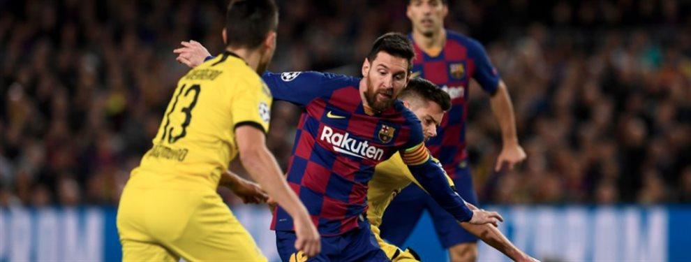¡Bombazo en el Barça-Dortmund! Le dicen a Messi que se va al Real Madrid