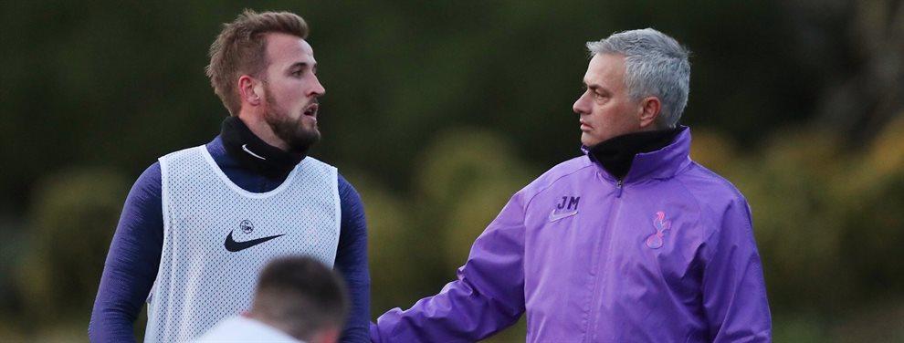 Harry Kane toma el mando de las operaciones, se reúne con Mourinho y le suelta este bombazo a la cara ¡Ojo a lo que le dice y a la amenaza que le lanza!