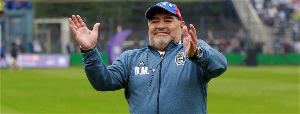 Diego Armando Maradona podría marcharse de Gimnasia de La Plata y recalar en el Elche.