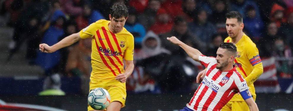 Leo Messi quedó muy descontento con la actuación de Junior Firpo ante el Atlético