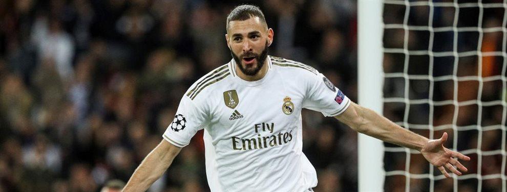 El Olympique de Lyon quiere llevarse a Karim Benzema del Real Madrid aprovechando su contrato, que acaba en 2021