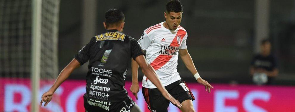 Exequiel Palacios podría marcharse de River, pero a un destino diferente que el Bayer Leverkusen.