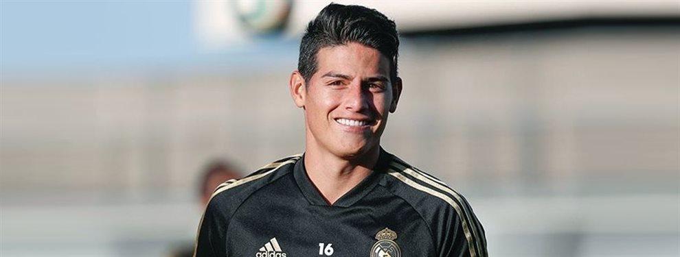 El Valencia se ha interesado por James Rodríguez, por el que negocia por medio de Jorge Mendes