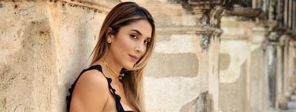 Daniela Ospina colgó una foto en la playa en la que aparece junto a su novio, Harold Jiménez