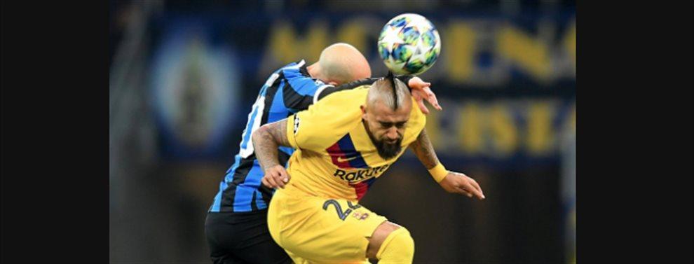 El partido entre Inter de Milán y Barça tuvo dos protagonistas: Lautaro Martínez y Arturo Vidal