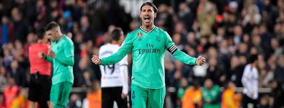 Sergio Ramos ha disputado el que será su último Clásico en el Camp Nou en su carrera