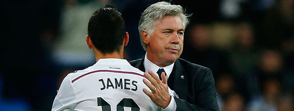 Carlo Ancelotti ha llamado a James Rodríguez para que le acompañe en su aventura al Everton
